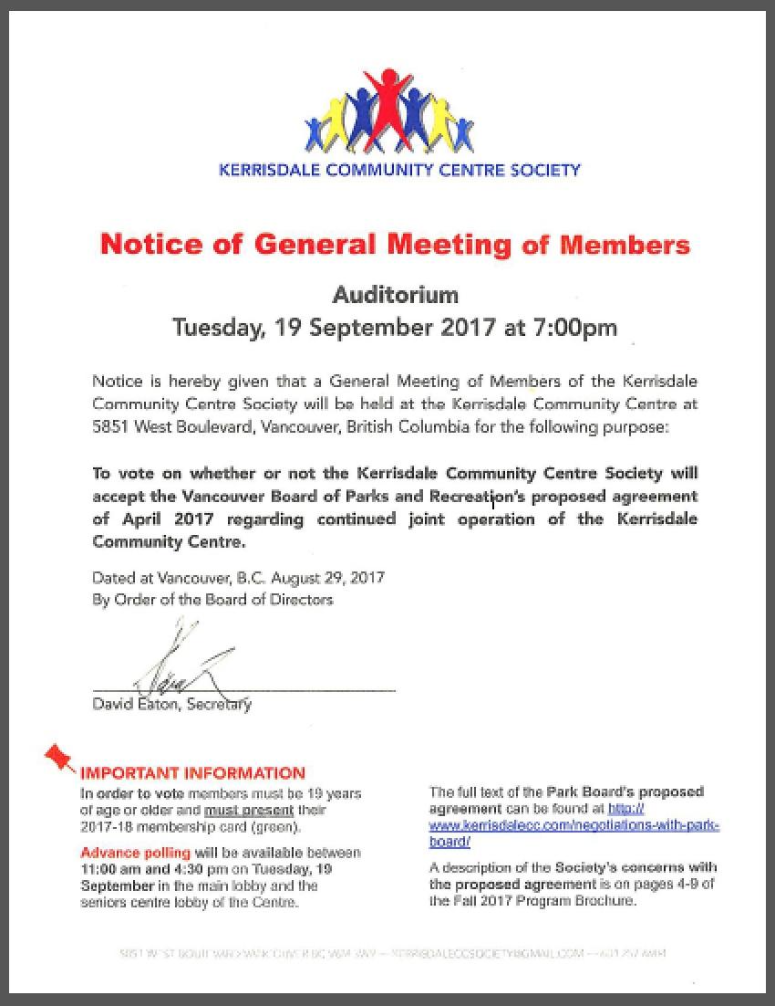 General Meeting of Members-Sep 19