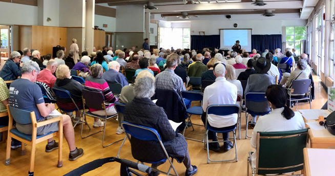 The Kerrisdale Community Centre Society saw more than 300 community members come out to provide feedback that they are not happy with the Joint Operating Agreement that the Park Board expects the Society to sign by September 30, 2017. Image Credit: Kerrisdale Community Centre Society