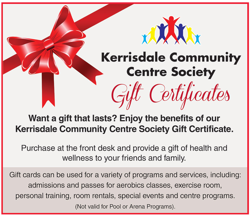 Kcc gift certificates kerrisdale community centre kerrisdale community centre gift certificates want a gift that lasts enjoy the benefits of xflitez Gallery