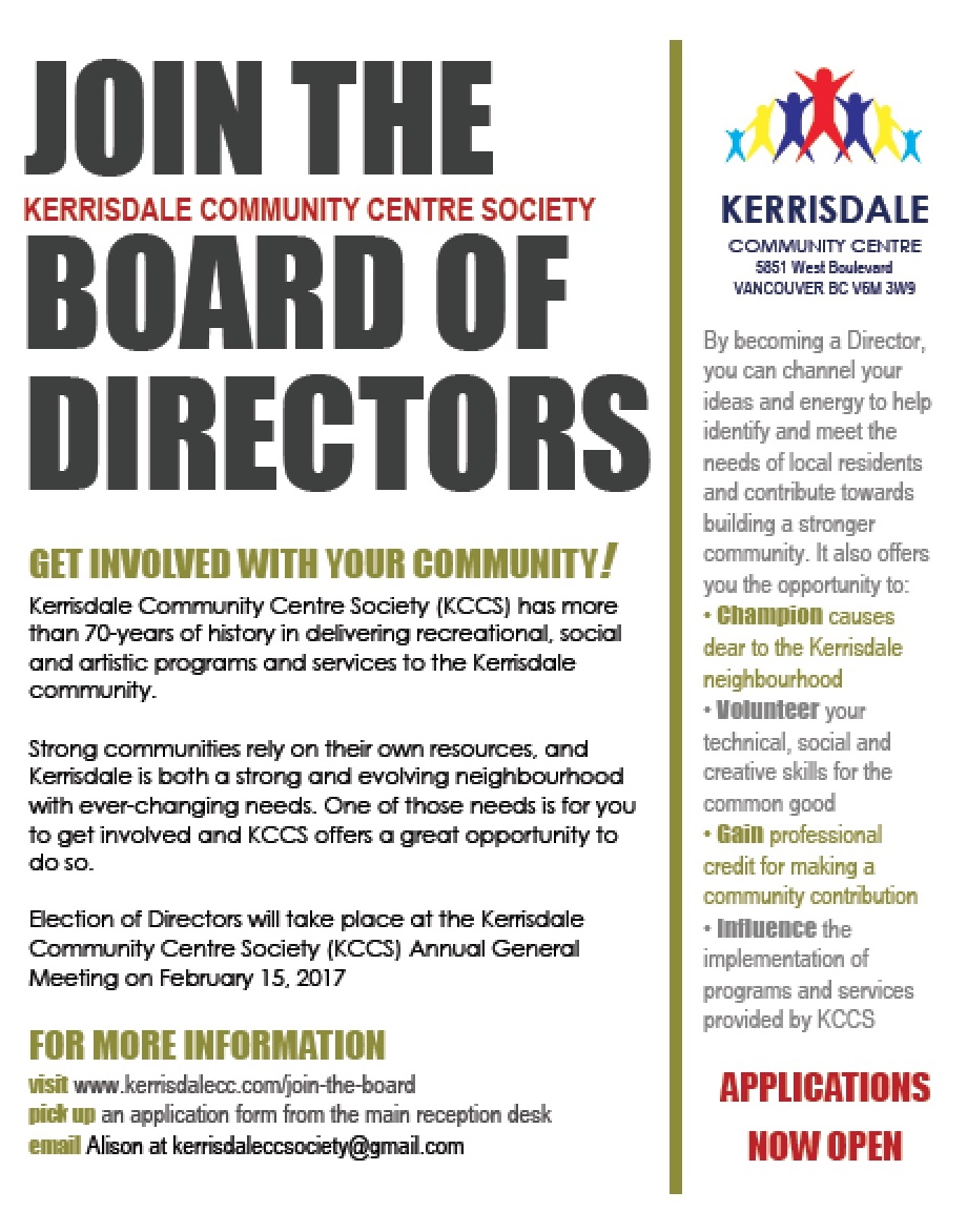 Join the KCCS Board
