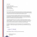 Letter to M. Wiebe, Chair PB – June 29